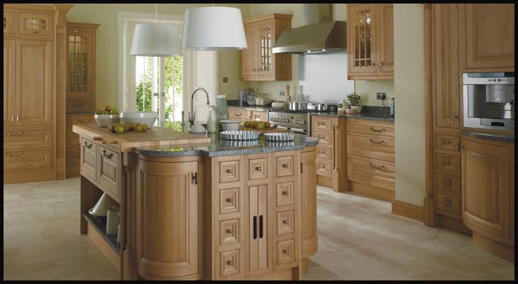 Astor oak in frame kitchen bespoke fitted kitchens for Oak fitted kitchen